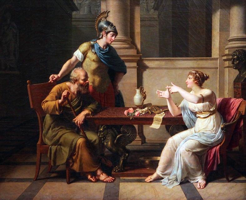 El debate entre Sócrates y Aspasia